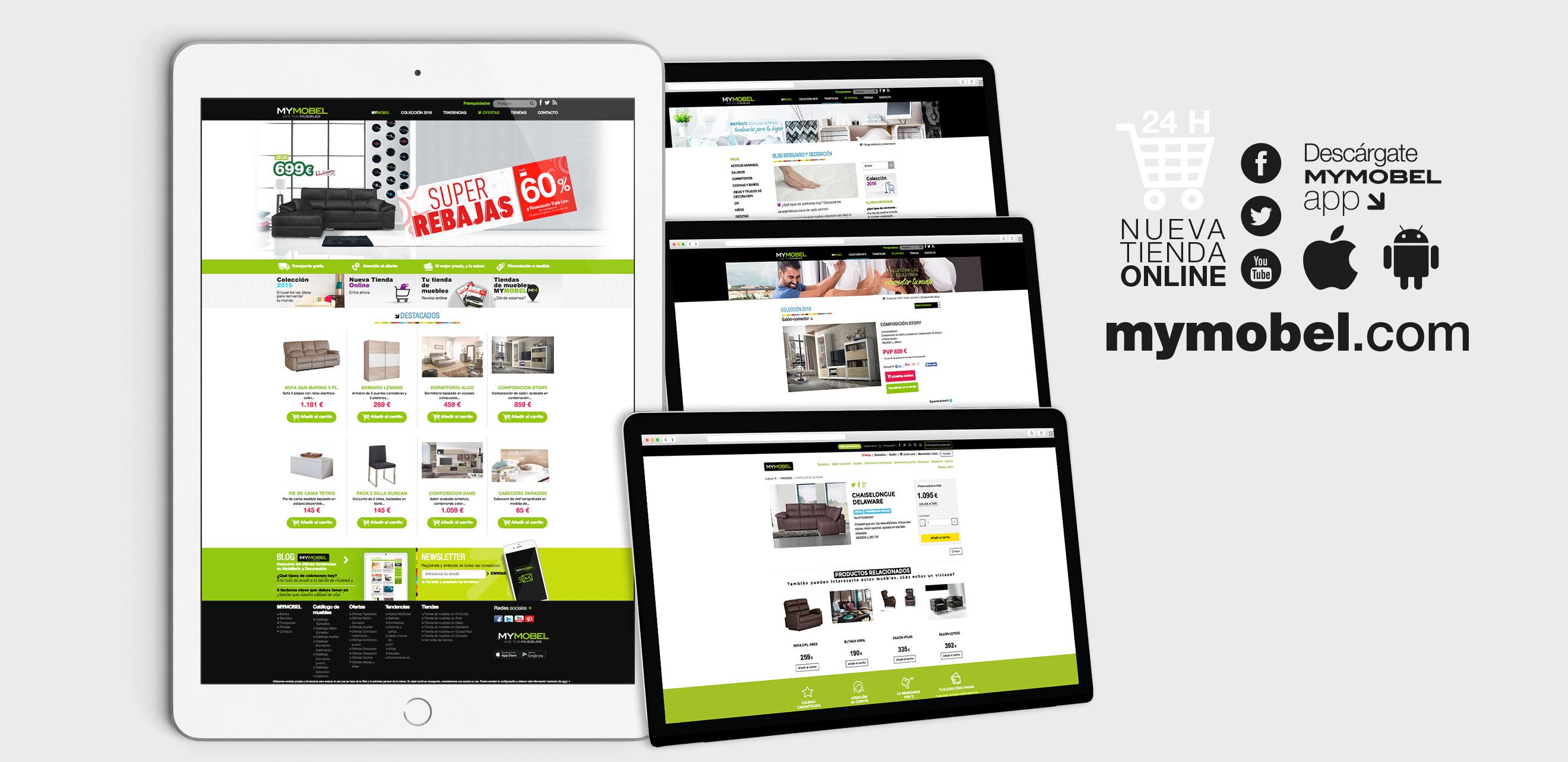 Prisma desarrollo de app y ecommerce for Grupo europa muebles